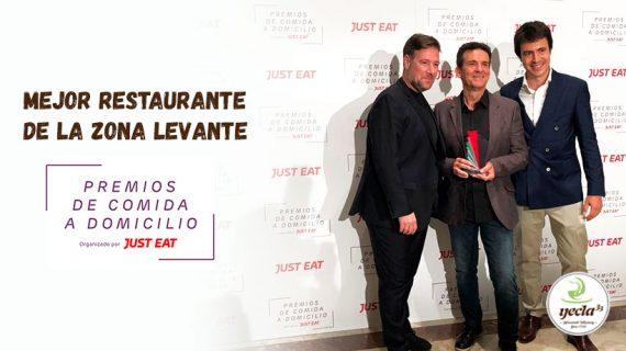 ¡Galardonados como el Mejor Restaurante de Comida a Domicilio de Levante 2019!
