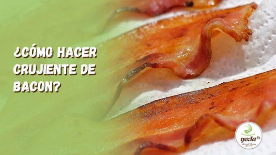 ¿Cómo hacer crujiente de bacon?