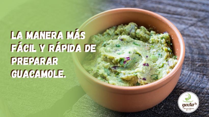 La manera más fácil y rápida de preparar guacamole