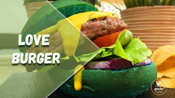"""""""Love Burger"""", una hamburguesa que defiende el amor libre"""