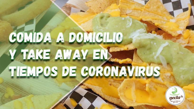 Comida a domicilio y Take Away en tiempos de coronavirus