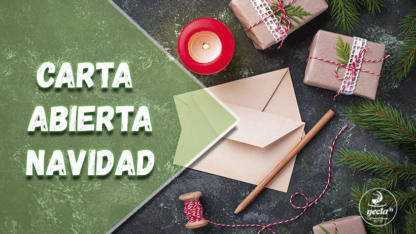 Carta abierta por Navidad